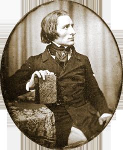 フランツ・リスト1843 ヘルマン・ビオウによるHerman_Biow-_1843
