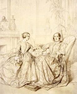 マリーダグー伯爵夫人と娘クレール